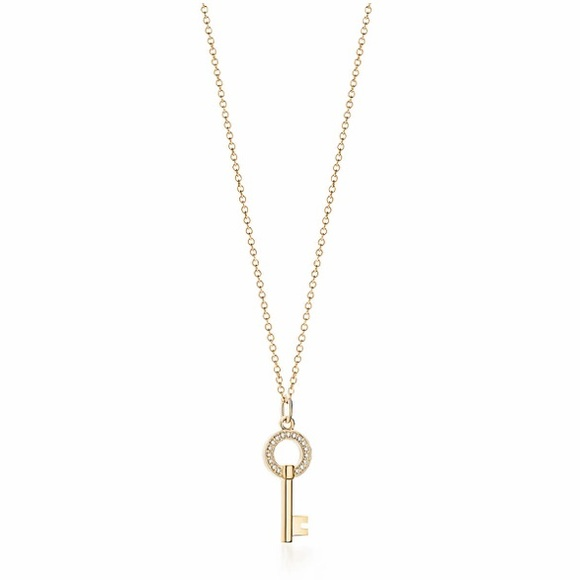 Tiffany Co Jewelry Tiffany Co Modern Keys Open Round Key Necklace Poshmark